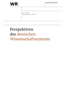 Perspektiven des deutschen Wissenschaftssystems 2013