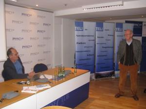 Professor Peter Finke und der TELI Vorsitzende Arno Kral. (c) Goede