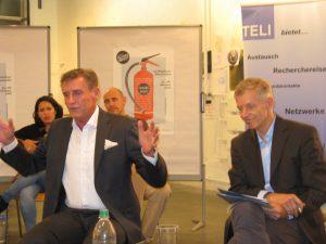 Roland Kreitmeier, Siemens-Chef (l.), und Christian Kreiß, Volkswirt (c) Goede