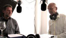 Dr. Christoph Then (li.) und Günter Löffelmann im Lora Studio (c) Goede